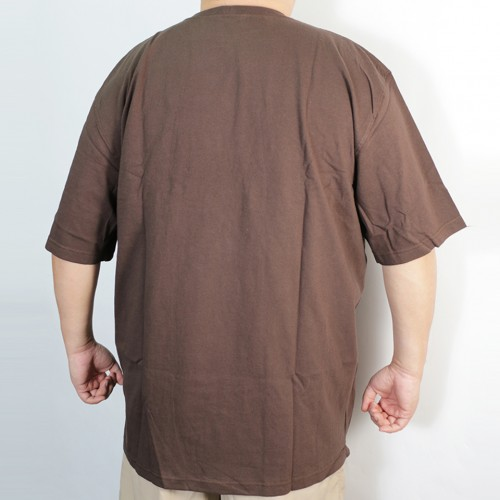 Simple S/S Pocket Tee - Dark Brown