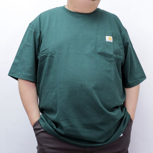 Simple S/S Pocket Tee - Hunter Green