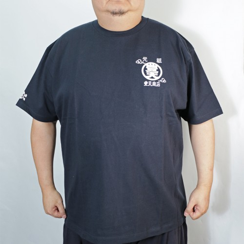 Wave And Fuji Tee - Navy