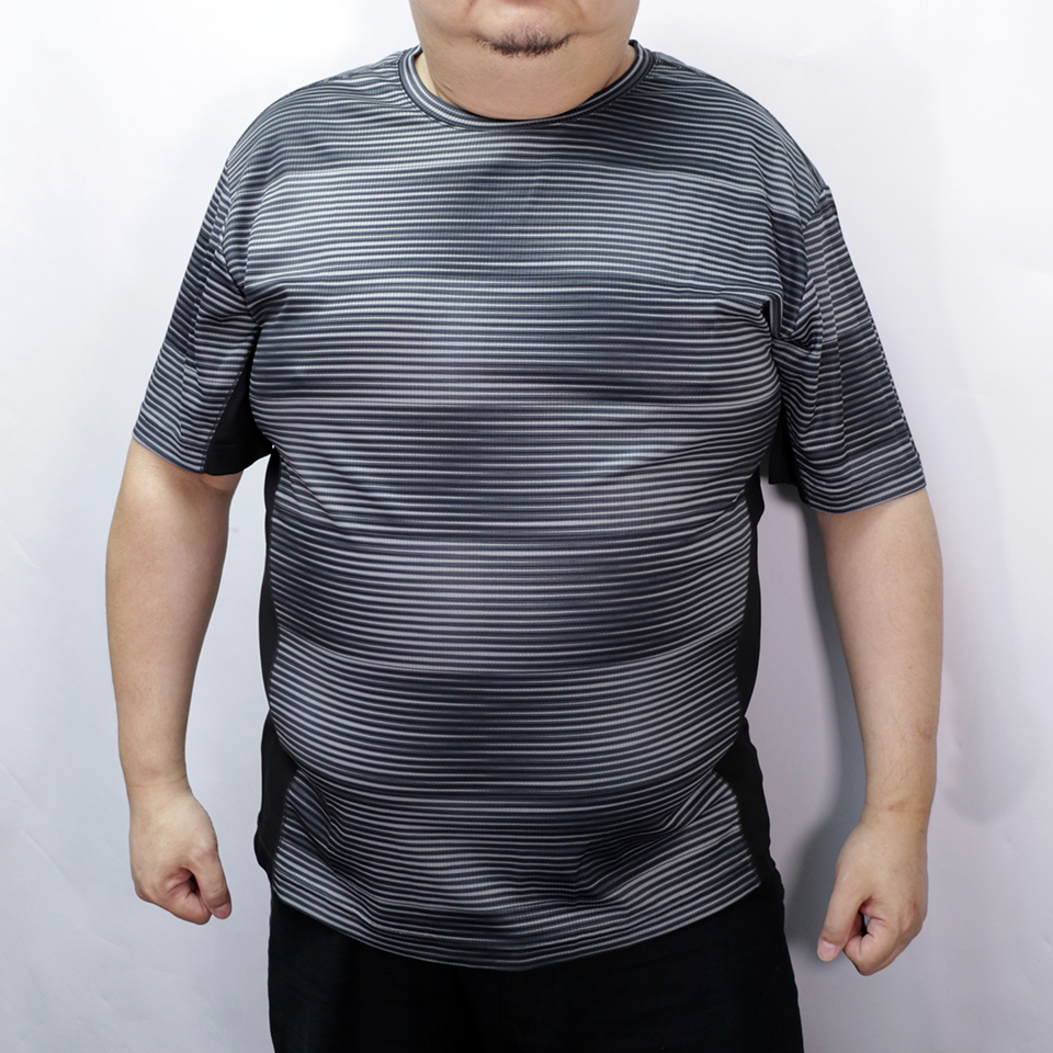 Stripe Sports Tee - Black