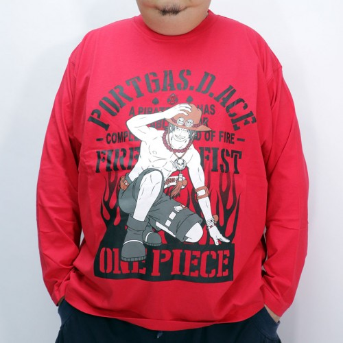 Portgas D Ace L/S Tee - Red