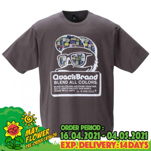 Blend Color Sticky Tee - Charcoal