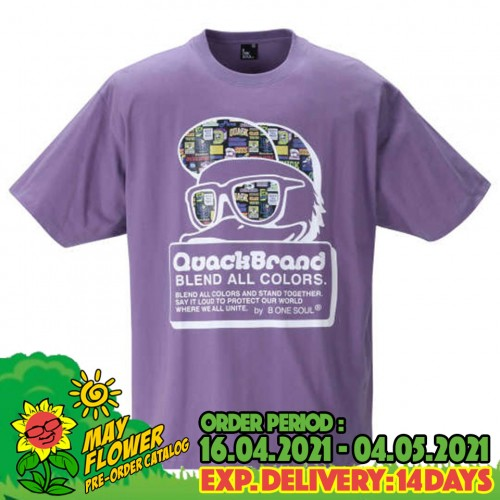 Blend Color Sticky Tee - Purple