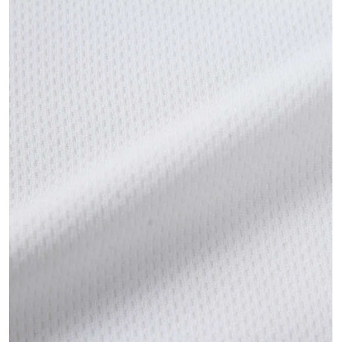 Honeycomb Mesh Tee Set - White