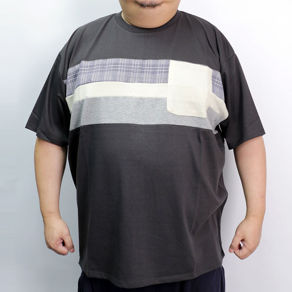 Sweatressfree Checker Switching Tee - Charcoal
