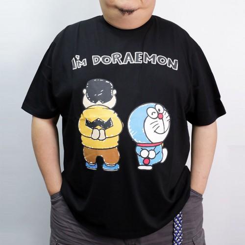 Gian & Doraemon Walking Tee - Black