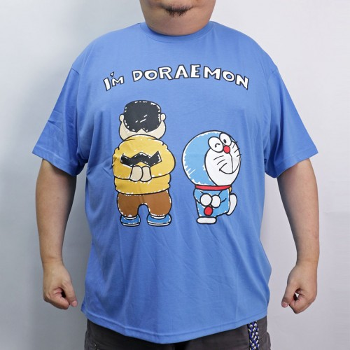 Gian & Doraemon Walking Tee - Blue