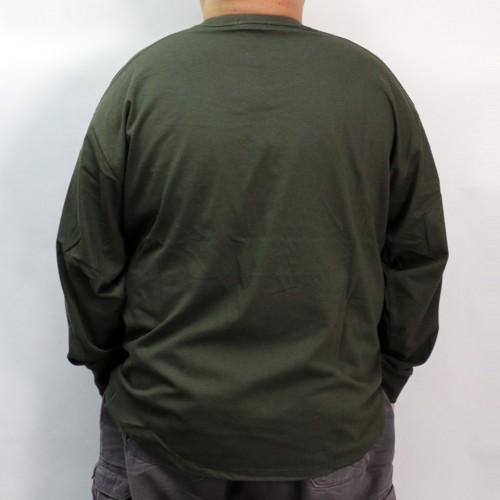 Crew Neck L/S Pocket Tee - Dark Green